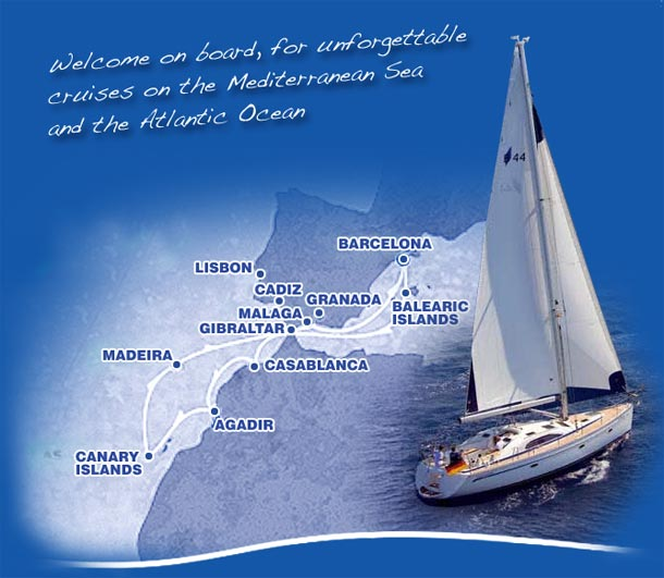 welcome on board for unforgetable sailing cruises in Costa del sol Marbella